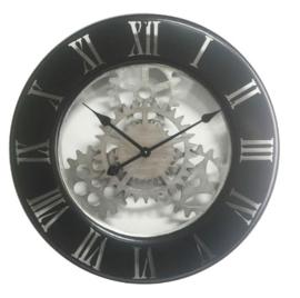 Zwarte mechanische klok