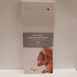 Notitieblok met magneet || eekhoorn || 10 x 24