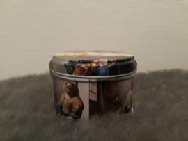 Snoep blik Vermeer Het Melkmeisje met boterwafels