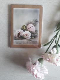 Complimenten schriftje bloemen