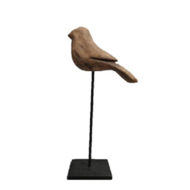 Vogel op standaard.