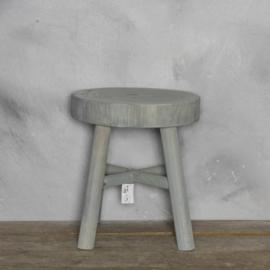 Houten kruk grijs 31 x 35.5