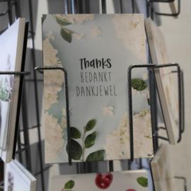 Postkaart Thanks bedankt dankjewel