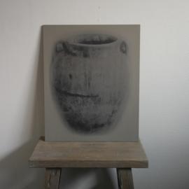 Kalkverf schilderspaneel pot