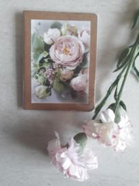 Complimenten schriftje roos