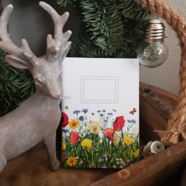 Notitieboekje veldbloemen|| 14 x 11 cm