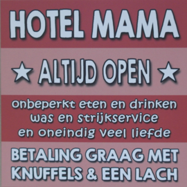 Hotel mama || Ansichtkaart || Rood