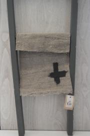 Shabby doek | kruis small