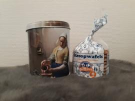 Bewaarblik Vermeer Het Melkmeisje stroopwafels