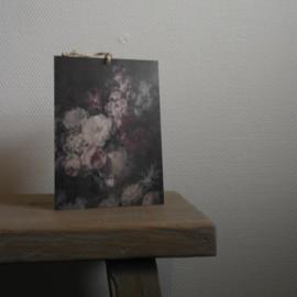 Decobordje vaas bloemen || met ophanglus