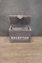 Receptenbox 18 cm taup