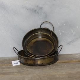 Set van 3 trays bruin