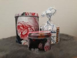 bloemen (de Heem) - stroopwafels & frambooszuurtjes