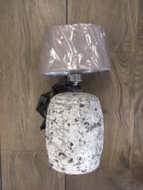Lamp ruw wit (zonder kap)