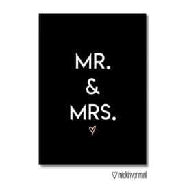 MR. & MRS. || Ansichtkaart || Miek in Vorm