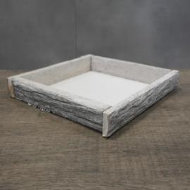 Bark tray natural-wash || 25 x 25