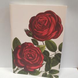 Notitieboekje 2 rode rozen || 15 x 21 cm