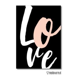 Love || ansichtkaart || Miek in Vorm
