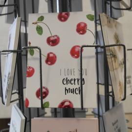 Postkaart I love you cherry much