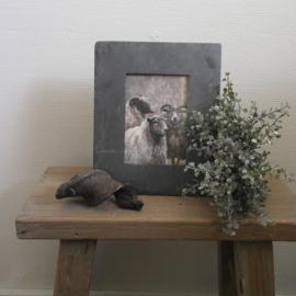 Leisteen fotolijst || met foto schapen || donkerblauw/grijs