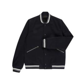 PAUL SMITH Melton Wool Varsity Jacket maat Medium