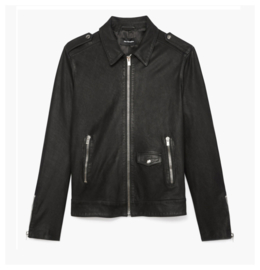 THE KOOPLES Jacket In Washed Leather maat Large