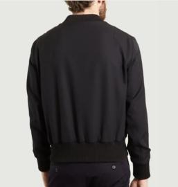AMI Bomberjack van wol met geribde boorden maat L