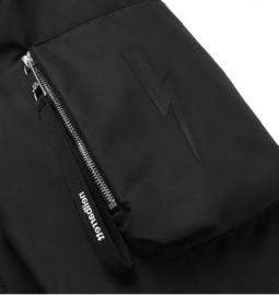 NEIL BARRETT Black Shell Bomber Jacket maat M