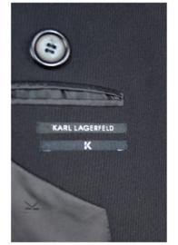 KARL LAGERFELD Double Breasted Overjas maat 50