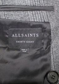 ALL SAINTS Double Breasted Geruite Overjas maat 48