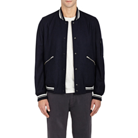 PAUL SMITH Melton Wool Varsity Jacket maat M