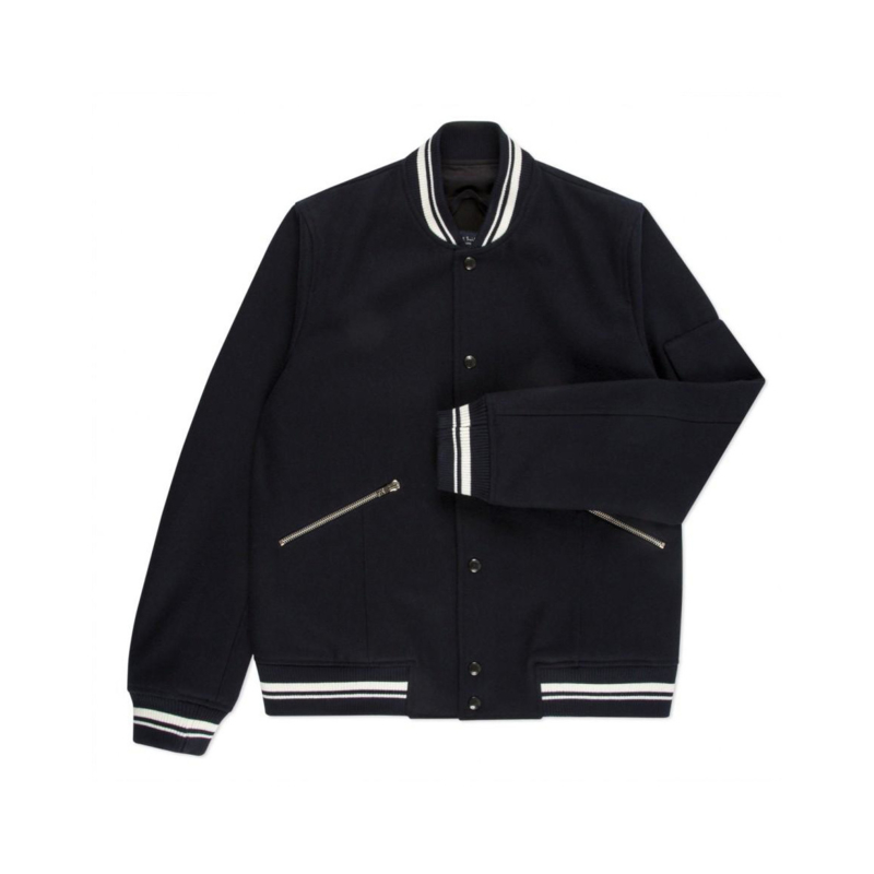 PAUL SMITH Melton Wool Varsity Jacket maat Medium