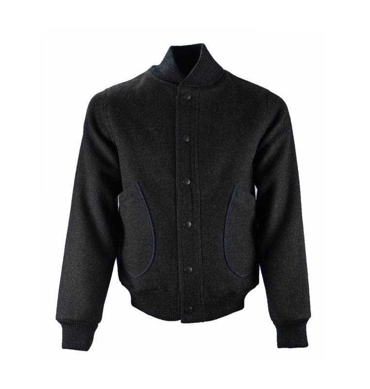 ALBAM Melton Wool Bomber Jacket maat 1/ Small