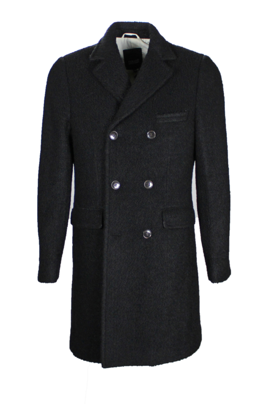 Gianni Feraud Boiled Wool Double Breasted Coat maat M