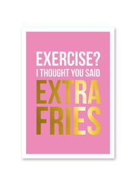 Extra fries - kaart