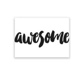 Awesome - kaart + envelop