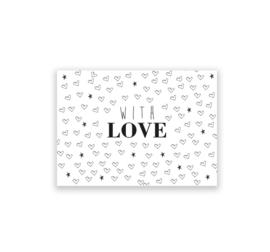 With love - kaart + envelop