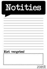 Notities - notitieblokje