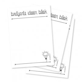 Briljante ideeën - notitieblokje