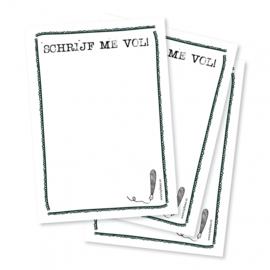 Schrijf me vol - notitieblokje