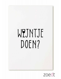 Wijntje doen? -  kaart