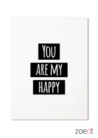 You are my happy - kaart