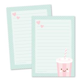 Milkshake - notitieblokje