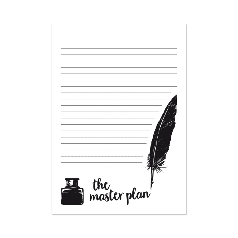 The master plan - notitieblok