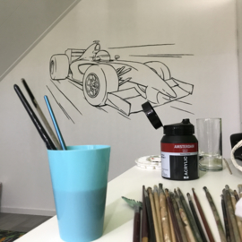 Wallpainting Formula 1 childrens room
