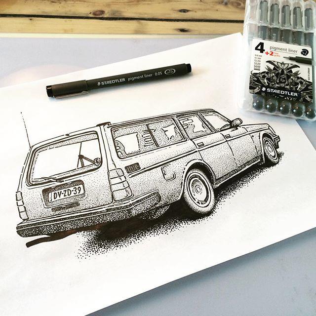 Volvo 240 tekening