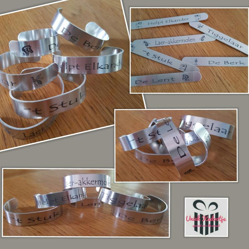 Aluminium armband