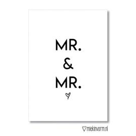 Miekinvorm | Ansichtkaart Mr. & Mr.