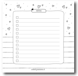 Winkeltje van Anne | Mini notebook Small white