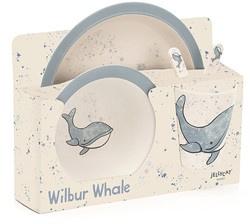 JELLYCAT | Wilburg walvis bamboo set